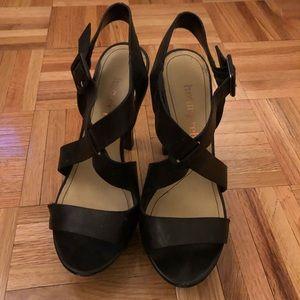 Luxury Rebel Strappy Black Heels - 37.5